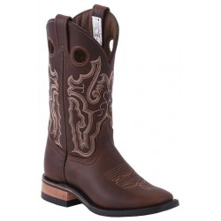"""Brown Grain Sides Insulated 11"""" Canada West 6021 Ladies BRAHMA Ropers"""