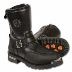 "Milwaukee MBM9070 Mens ""Need Height"" Strap Boot w/ Reflective Piping & Gear Shift Protection"