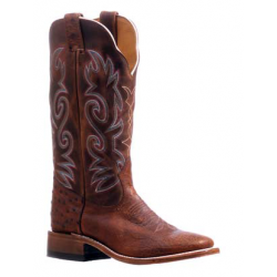 Boulet Ladies Ostrich Wide Square Toe Boot 5523