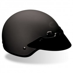 BELL- SHORTY matte black leather covered