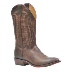 """Boulet's Rugged Country 13"""" Mens Mad Cat Brown Medium cowboy toe boot 2102"""