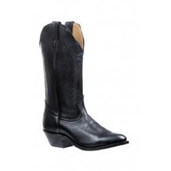 "Boulet 13"" Ladies Sporty Black Deer Tan Medium Cowboy Toe Boot 4074"