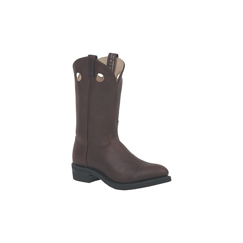 Plain-Toe Work Western Boots