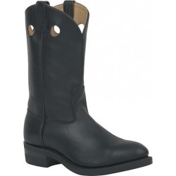 Canada West 5061 Plain-Toe Work Western Boots - Black