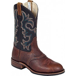 "Brown Buffaloco Bison/Black Manchester 11"" 8517 Canada West Fine RIb Soles Men's BRAHMA EZ-Flex Ropers"