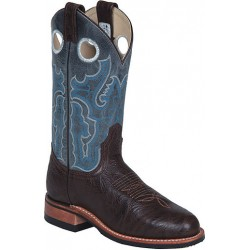 "Chocolate Taurus/Topaz Jaguar 11"" 4066 Canada West Ladies BRAHMA Ropers w/ VIBRAM Soles"