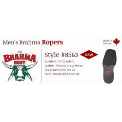 "Volcano Crazy Horse 12"" 8563 Canada West Brahma Ranchman Ropers"