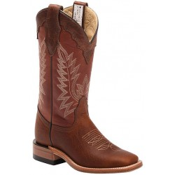 "Pecan Rowdy Bison/Lavadi Brown 4091 12"" Canada West Ladies BRAHMA Ropers"