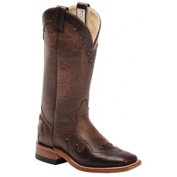 "Pompeya Tea /Barcelona Brown 13"" Canada West 4093 Ladies BRAHMA Ropers"