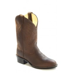 Old West Children's Round Toe Brown Cowboy Boots 1151