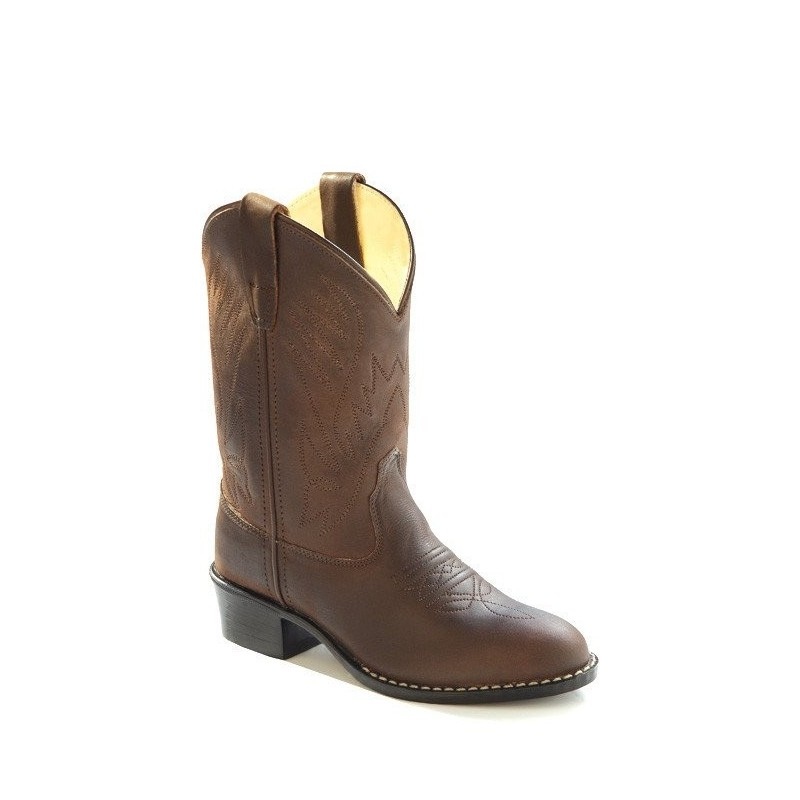 Old West 1151 Size 10 Child Corona Calf Leather Western Cowboy Boots BROWN NEW!