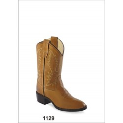 Youth's Old West CCY1129G Tan Canyon Corona Calf Leather Western Boot