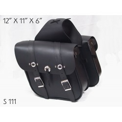 Slant Saddle Bag with Conchos s111