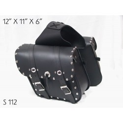 Slant Saddle Bag Studded and conchos s112