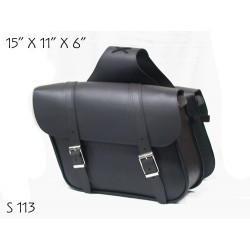 Slant Large Saddle Bag Plain S113