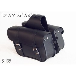 Slant Stubby Large Plain Saddle Bag s135