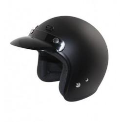 Open face Helmet - Classic Solid Matte Black