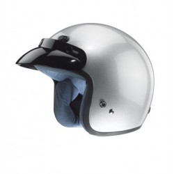 Open face Helmet - Classic Solid Glossy Silver