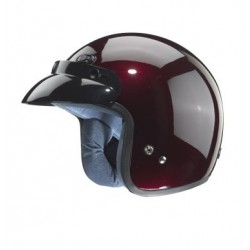 Open face Helmet - Classic Solid Glossy Cherry