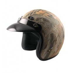 Open face Helmet -Classic Solid Forest Camo