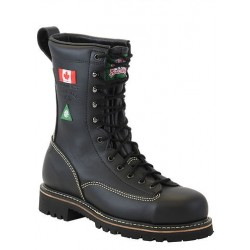 Canada West 34394 Fire-Retardent Steel-Toe Lace Work Boots CSA Grade 1