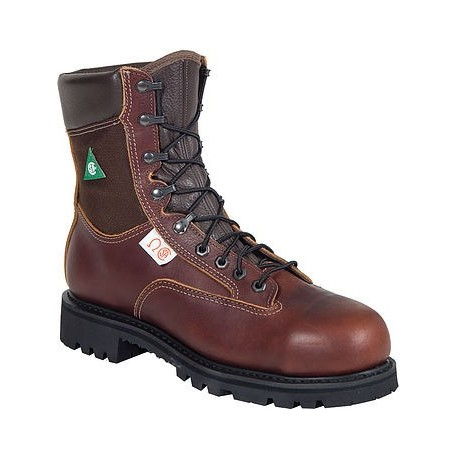 5f148d6ab66 Canada West 34313 Waterproof Steel-Toe Pecan Tumbled Lace Work Boots CSA  Grade 1
