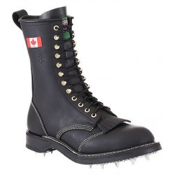 Canada West 14366 Steel-Toe Black Loggertan Lace Work Boots CSA Grade 1