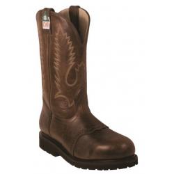 "Boulet Mens 12"" Gerico Brown Steel toe work boot 5175"