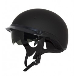 Half helmet with drop down visor Roadster Matte Black