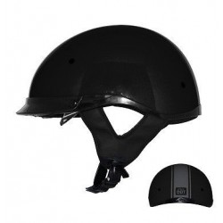 Half helmet with drop down visor Roadster Stripe Black