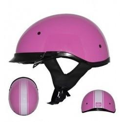 Roadster DDV Stripe Glossy Pink Half helmet by Zox