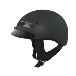 Half helmet with vents - Alto Custom Matte Black