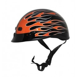 Nano Custom Flame Glossy Black / Orange