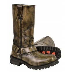 """Milwaukee MBM9005/MBM9005W Men's Distressed Brown 11"""" Inch Classic Harness Square Toe Boot"""