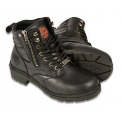 MBL9320 Ladies Milwaukee Side Zipper Plain Toe Boot
