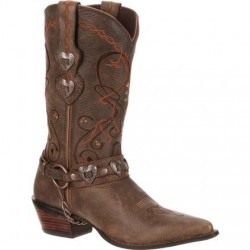 CRUSH BY DURANGO WOMEN'S DUSK TO DAWN HEARTBREAKER CONCHO WESTERN BOOT - RD4155
