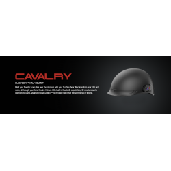 CAVALRY HELMET BLUETOOTH HALF HELMET - FT SENA Technology