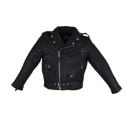 Kid/Youth KD342 Leather Motorcycle Jacket