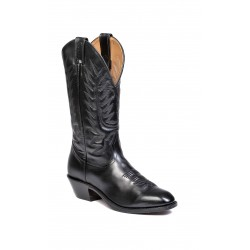 Boulet Mens Torino Black Calf Western Dress Toe Boot 8063