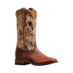 Boulet BISON Delantero Utta Whiskey Mens Wide Square Toe Boot 6325