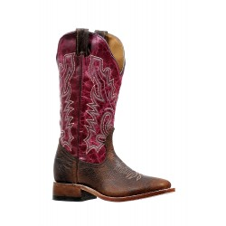"Boulet Ladies 13"" BISON Faraon Magenta Wide Square Toe Boot 6251"