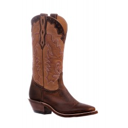 "Boulet 13"" LaidBack Tan Spice Ladies Wide Square toe boot 6262"