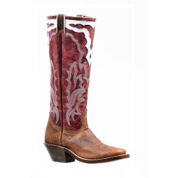 "Boulet Ladies 16"" BISON Faraon Magenta Wide Square Toe Boot 6337"