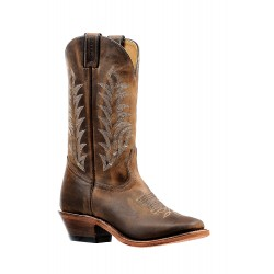 "BOULET Ladies 12"" HillBilly Golden Vintage square toe boot 6373"