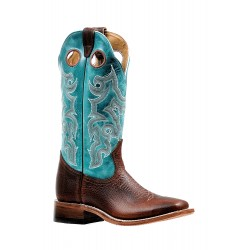 """Boulet 13"""" Ladies Bisonte Utta Whiskey Wide Square Toe Boot 6320"""