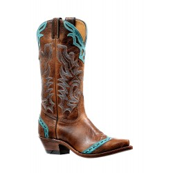 "Boulet 13"" Ladies Damiana Moka West Turueza Snip toe boot 6615"