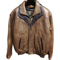 Mens Soft Casual Leather Jacket with Zipout Liner