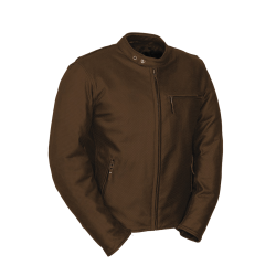 DEUCE Premium Oil Perforated Leather Jacket by: Fieldsheer