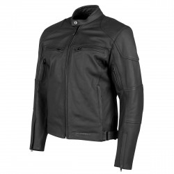Joe Rocket Mens RASP Leather Jacket Black