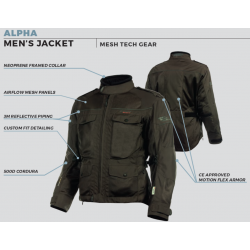 Olympia - ALPHA - Men's Mesh Tech Jacket